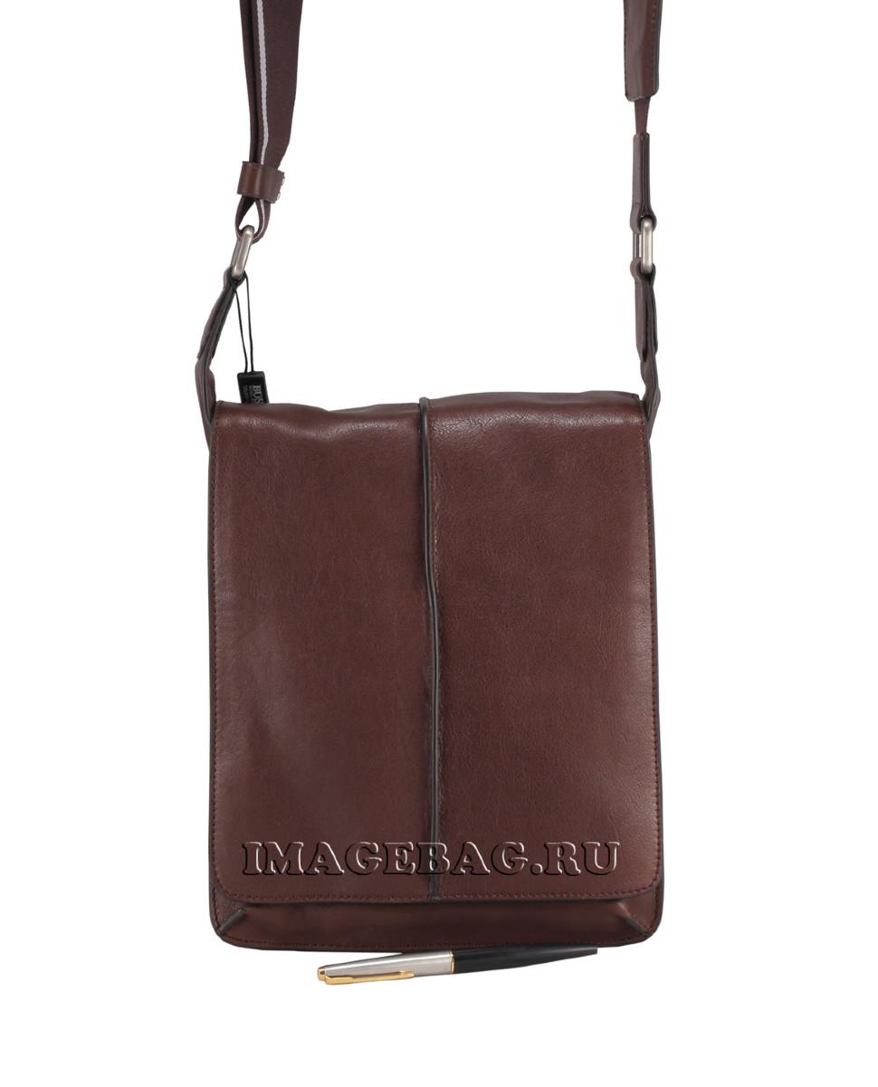 d6250703580a Мужская коричневая сумка Hugo Boss 6055-9-47-1 купить в Москве по ...
