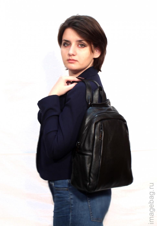 656b676a7ba7 Рюкзак женский городской P.R. Wendy black 1048BL купить в Москве по ...