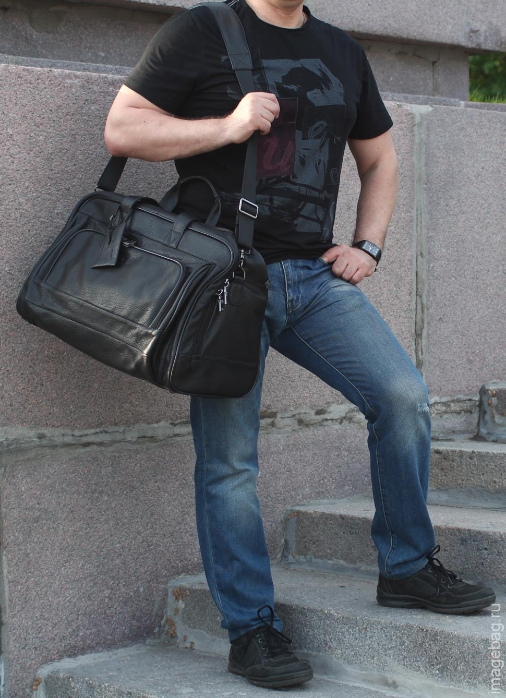 f4080ef04d72 Мужская дорожная кожаная сумка 0047830-1 купить в Москве по супер ...